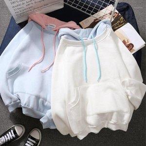 Women's Sweatshirt Solid Hoodies Harajuku Tops Fashion Winter Patchwork Hoodies For Women Warm Sweatshirts Hot Oversized1