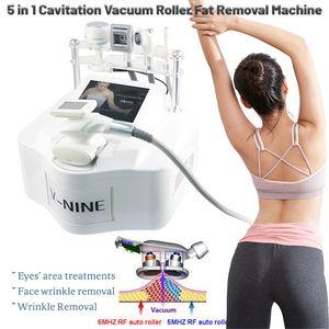 Multifunction 5 handle rf vacuum body slimming machine cavitation cellulite reduction equipment
