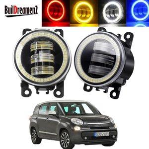 Other Lighting System 2 X Angel Eye Fog Light Assembly For 500 1.4L L4 2012 2013 2014 2021 Car LED Lens DRL Driving Lamp 30W 6000LM 12V