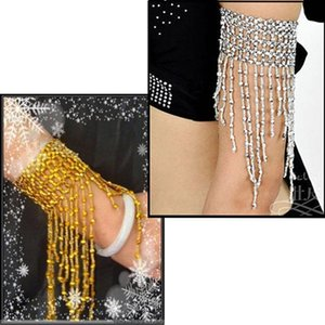 Women Belly Dance Bracelet Wide Chain Beads Jointed Tassels Pendant Lady Girl Bracelets XIN- Charm