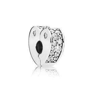 الأحجار الملونة تشيكوسلوفاكيا الماس كليب سحر سوار الملحقات مع مربع باندورا 925 فضة القلب مقاطع 631 z2