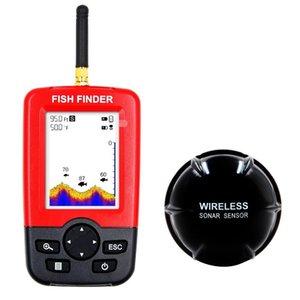 Fish Finder Handheld Portable Wireless Sonar Sensor Fishfinder Depth Locator Fishing Gear LCD Display