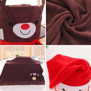 Cartoon Christmas Flannel Blanket Carpets Foldable Santa Claus Snowman Penguin Deer Pattern Carpet Soft Throw Blankets sea ship EEB6449