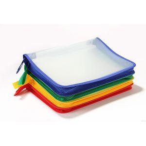 File Bag Desk Transparent A4 Large-capacity Storage Bags Student Files Information Pocket Folders GWE9428