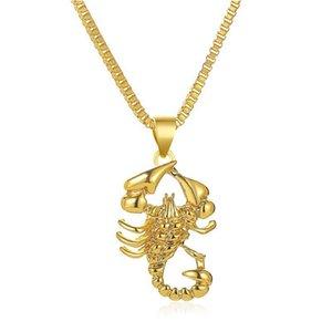 Кулон ожерелья 2021 Западный Хип-хоп Ожерелье Творческое Золото Скорпион Мужчины Женщины Ювелирные Изделия
