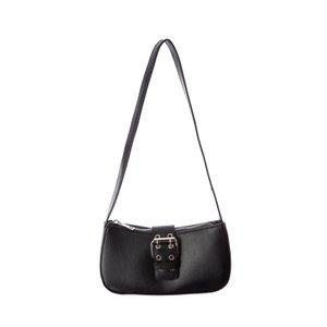 Waist Bags Vintage Women's Shoulder Bag PU Material Baguette Fashion All-Match Belt Decoration Ladies Handbag