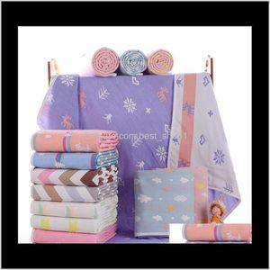 Baby Bath Towels Born Swadding Blankets Kids Swaddles Wraps Cotton Soft Quilt Fashion Nursery Bedding Parisarc Robes Po Props 0Uflw Ip7An