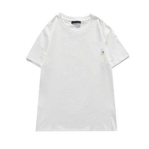 الرجال الأزياء الطباعة الطباعة القمم الإبداعية اللون نقي تنفس عارضة قميص بولو فضفاض جولة الرقبة قصيرة الأكمام أحدث S-2XL