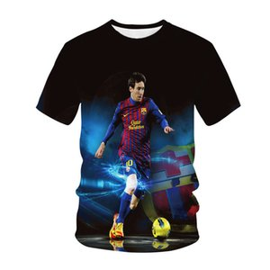 Football Star Lionel Messi Men Women 3D Print T-Shirt Fashion Short Sleeve Gym Pullover Sportswear