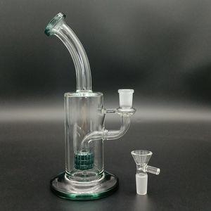 Vidro PERC Bong Hookah 8.7inch Alto Bubbler Clear Beaker Reutilizável 14mm Tigela Masculina De Fumo Tubulação De Água Transparente Dab Rigs De Petróleo Percolador