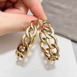 Top quality hook drop earring with head shape in 18k gold plated for women and mother birthday gift jewelry have stamp PS4504
