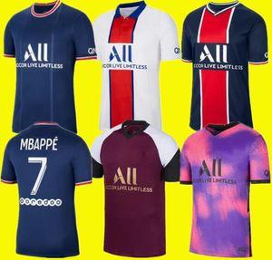 20 21 22 Thai soccer jersey MBAPPE VERRATTI 2021 2022 MARQUINHOS KIMPEMBE DI MARIA KEAN football Jersey soccer tops men shirt Size s - 4 xl