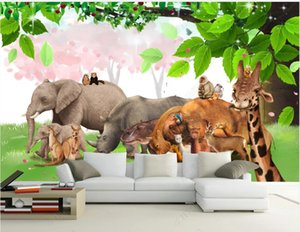 WDBH 3d photo wallpaper custom mural Animal world beautiful big tree scenery home decor 3d wall murals wallpapers for walls 3 d in the living room