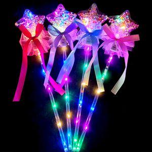Holiday Party Toys Fairy Wand Bobo Ball Magic Wand Flashing Ball Christmas Gifts Children's Luminous LED Toys 179 T2