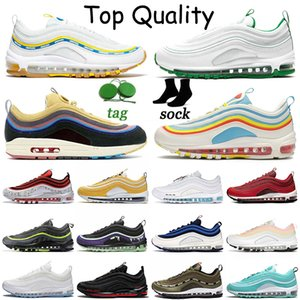 free run womens mens 97s running shoes Sean Wotherspoon Summer Pack Undefeated UCLA Bruins MSCHF x INRI Jesus Satan White Off Pine Green sports trainers sneakers