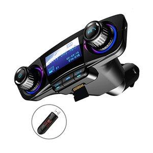 BT-06 DUAL CARGER CARGER LED Universal CARGO RÁPIDO FM Transmisor Bluetooth Mano libre de manos Kit de recepción inalámbrico MP3 Reproductor de música Soporte TF Tarjeta U DISH con pantalla de 1.3 pulgadas