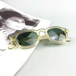 Güneş Erkekler Johnny Depp Gözlük Kadın Vintage Marka Asetat Çerçevesi Polarize Güneş Gözlüğü Yeşil Lens En Kaliteli SQ17-3
