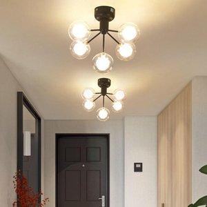 Ceiling Lights Nordic Light Luxury Porch Lamp Door Into The Garden Corridor Bedroom Balcony Cloakroom G4
