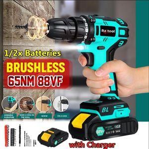 Professiona Electric Drills RaiTool 88VF Drill Cordless безщеточная ручная мини-отвертка, перезаряжаемая с 27шт.