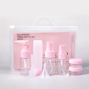 Travel Bottles Kit, Leak Proof Portable Toiletry Containers Set, Clear PET Flight Size Cosmetic Containers for Lotion, Shampoo, Cream, Soap, Set of 9