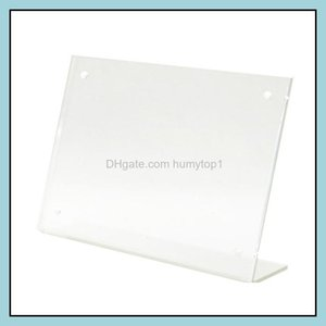 Frames Arts, Crafts Gifts Home & Gardenframes And Modings Magnetic Acrylic Po Frame Advertising Tag A6 Sign Holder Card Display Stand Table