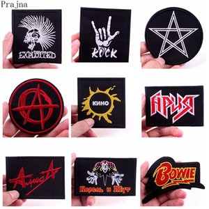 Tactical Skull Patch Rock Band Hippie Embroidered Iron On Patches For Clothes Jacket Fabric Applique Badge