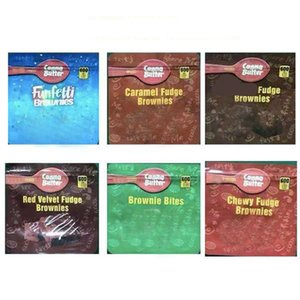600MG Brownie Bites EDIBLES PACKAGING MYLAR BAGS Red Velvet Chewy Caramel Funfetti Brownies Chocolate Multi Styles