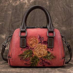 2021 new European and American handbags for women retro real first layer cowhide leather bag casual postman bag