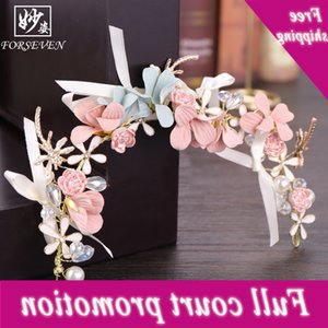 Bridal Korean Handmade Flower Headband children's cloth bowknot hairband performance headdress wedding dress accessories