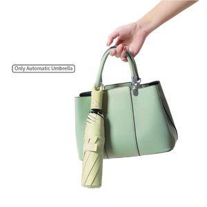 Umbrellas Protective Adjustable Lightweight Travel For Outdoor 3 Folding Hand Operated Long Handle Rain Sunny Automatic Umbrella Men Women