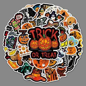 50 Halloween cartoon pumpkin doodle stickers Skin Protectors laptop luggage car scooter decoration sticker Computer Accessories