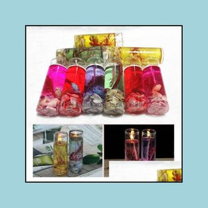 Candles Décor Home & Gardencreative Colorf Sea Shells Jelly Environment Crystal Wax Transparent Glass Candle Diy Decorate Birthday Celebrati