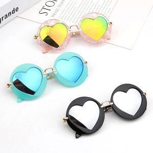 Ragazzo ragazza moda classica occhiali da sole bambino bambini rotondo telaio amore specchio occhiali da sole occhiali estate spiaggia all'aperto sport bambino anti-uv occhiali da vista occhiali da vista eyewe