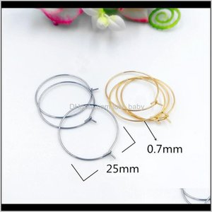 Clasps Hooks Large Base Setting Sier Color Hoop Earrings For Diy Statement Jewelry Making Findings Wholesale Hsqvr Mceyu
