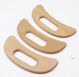 Vente en gros de drainage lymphatique en bois outil de massage Handheld gua Sha Shaling Paddle anti-cellulite Muscle Soulagement Maderotherapia EWE5768