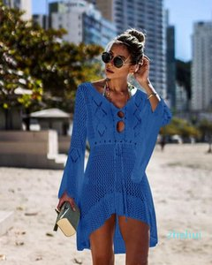 2021 New summer swimming bikeni small butterfly pattern beach shawl mix colors Cover-Ups cool clothes