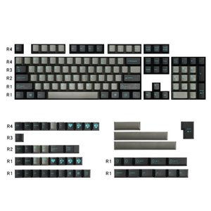 Enjoypbt Keycaps Cherry Profile Double Color Dolch Cyan 153 Key ABS Material Is Suitable For Most Mechanical Keyboards