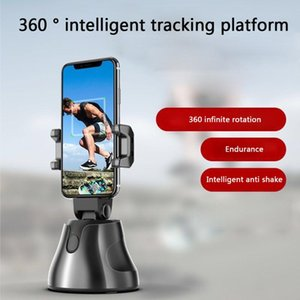 Selfie Monopods 360 Rotation Auto Object Tracking Phone Holder Classic Textutre Practical Multi-functional Smart Stick Mount