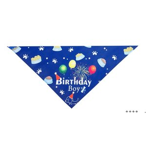 Pets Birthday Triangle Scarf Dog Supplies Cute Boy Girl Saliva Head Wear Props Puppy Cats Party Costume FWC7245