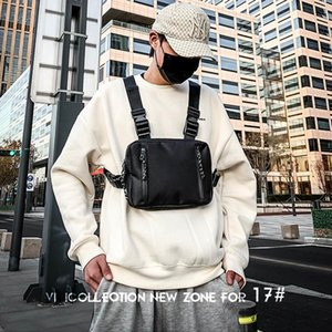 Street Trend Vest Backpack Hip Hop Tactical Package Nylon Unisex Sports Travel Phone Pouch Running Bag Men Chest Bags Q1221