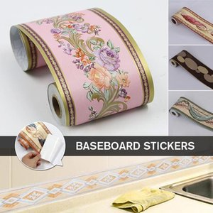 Meter Self Adhesive Wall Skirting Border Sticker Waterproof Floral Vintage Pvc Wallpaper Diy Home Decor Tile Waist Line Sticke Stickers