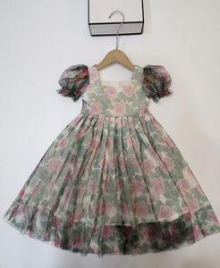 2021 new Baby Girl summer Children Dress short Sleeve Princess Dresses girls dress kids beautiful dress
