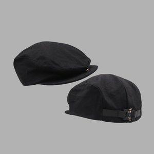 Berets Jizi مصمم معدني برج ميكانيكي مشبك خمر اليابانية قبعة الأمامية السوداء، الكناري فاتورة قبعة الفرنسية قبعة