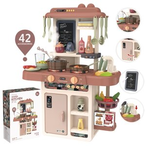 Funny Simulating Kids Large Kitchens Pretend Set Toys With Mist Spray lighting watering effect
