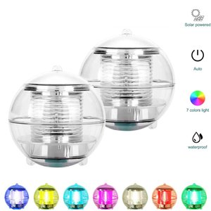 Waterproof Solar Power Color Changing LED Floating Ball Light for Outdoor Garden Pond Path Landscape Night Lights In Stock