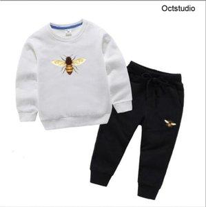 Bambini ragazzo designer di lusso moda ragazza vestiti abbigliamento sportivo autunno con cappuccio bambino 2 pz / set bambini vestito per bambini Toddler cotone tuta
