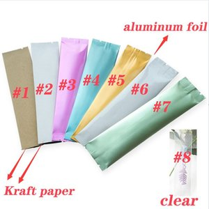 Colorful Mylar Bag Small Coffee Food Storage Aluminum Foil Bags plastic packing bag Smell Proof Pouches