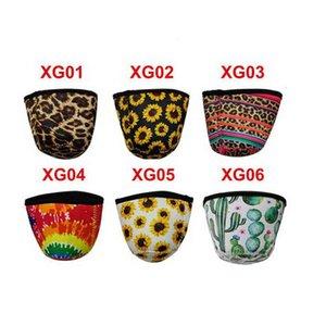 8.5cm*8cm Ice Cream Holder Case Tools Neoprene Leopard Sunflower Can Cooler Cover Insulator Cup Sleeve CYZ3015