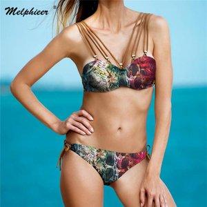 Vintage imprimé maillot de bain Melphieer 2020 nouveau bikini costume de bain femme nage de maillot de bain brésilien S ~ XL maillot de bain pour femmes