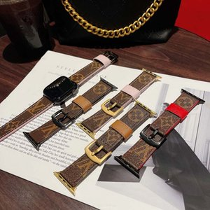 fashion designer  Strap for apple 42mm 38mm 40mm 44mm iwatch 2 3 4 5 watch bands Leather Bracelet Stripes watchband dfdfg